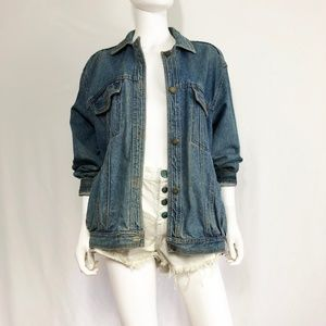 Vintage Jackets & Coats - Vintage 80s Pentimento Oversized Denim Jacket L